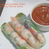 Vietnamese Summer Rolls with Spicy Peanut Sauce